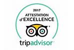 Certificat d'excellence par Tripadvisor.fr
